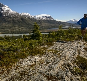 Ultra Trail Running in Ultima Esperanza, Patagonia, Chile; Ultra Fiord Route Mountain