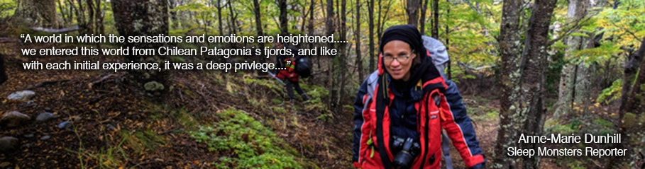 Anne-Marie Dunhill Journalist from Sleep Monsters; Ultra Fiord 2015; Patagonia, Chile