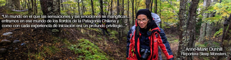 Anne-Marie Dunhill Journalista de Sleep Monsters; Ultra Fiord 2015; Patagonia, Chile