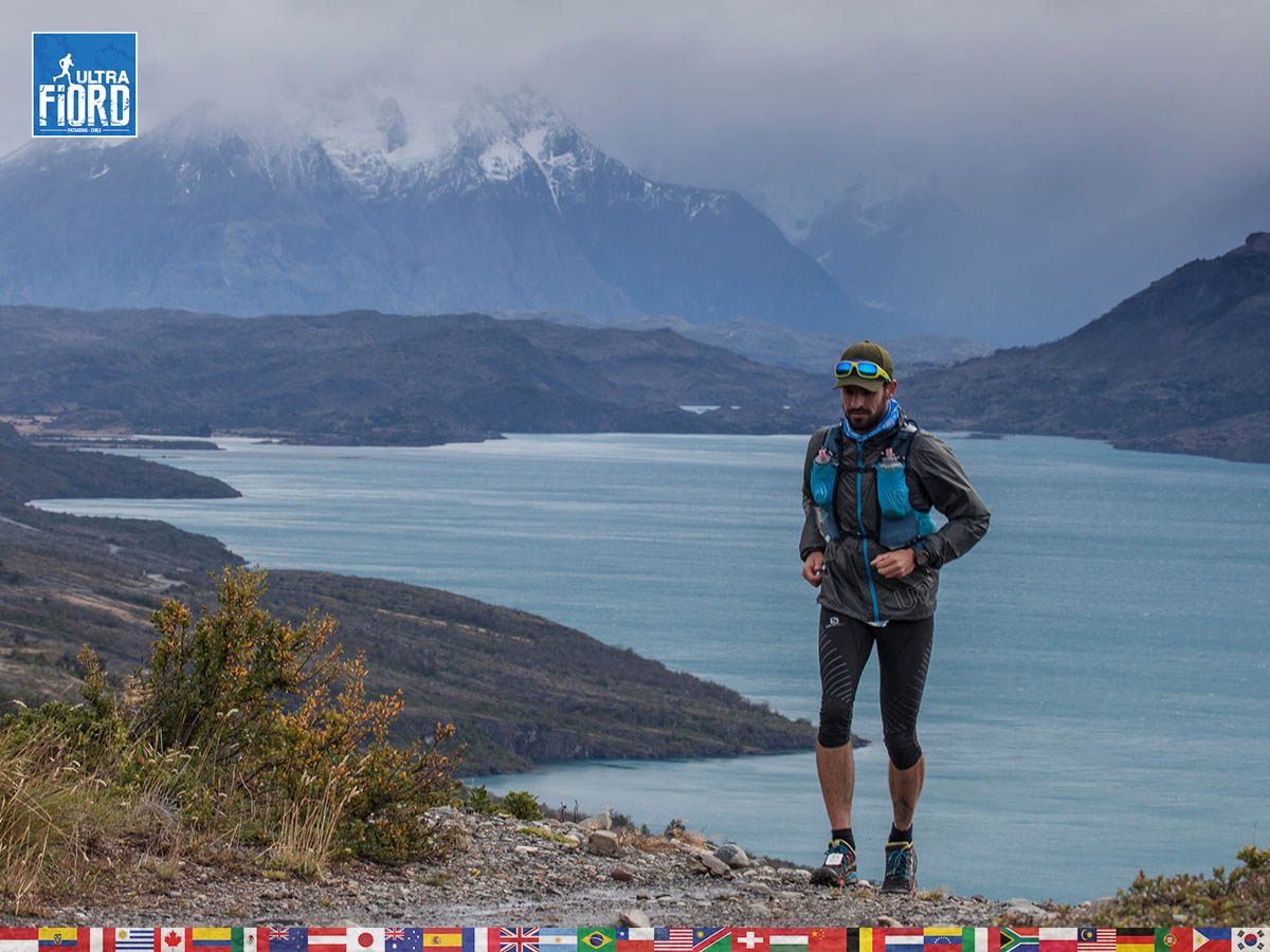 utf1904clsi0096FB; Ultra Trail Running in Patagonia, Chile; Ultra Fiord Fifth Edition 2019; Torres del Paine; Última Esperanza; Puerto Natales; Patagonia Running Ultra Trail; Claudio Silva