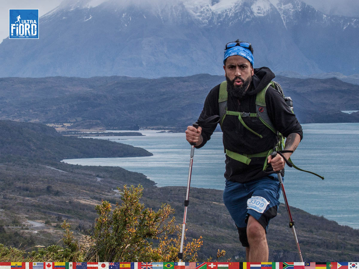 utf1904clsi0100FB; Ultra Trail Running in Patagonia, Chile; Ultra Fiord Fifth Edition 2019; Torres del Paine; Última Esperanza; Puerto Natales; Patagonia Running Ultra Trail; Claudio Silva