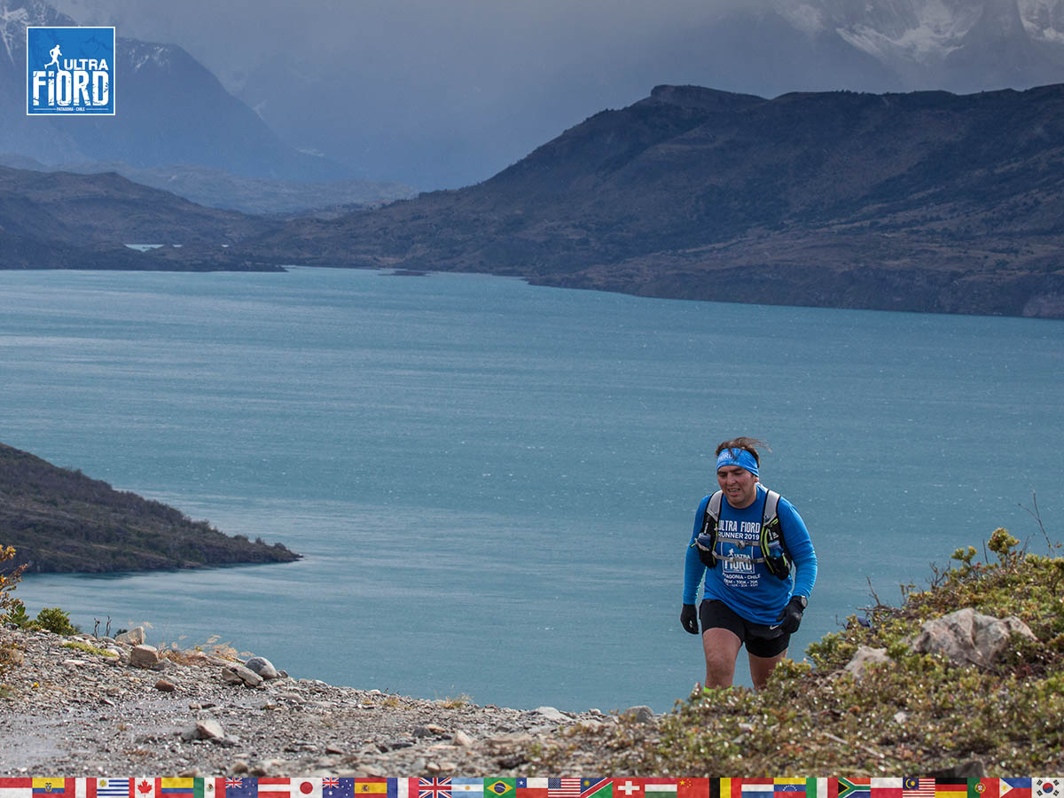 utf1904clsi0164FB; Ultra Trail Running in Patagonia, Chile; Ultra Fiord Fifth Edition 2019; Torres del Paine; Última Esperanza; Puerto Natales; Patagonia Running Ultra Trail; Claudio Silva
