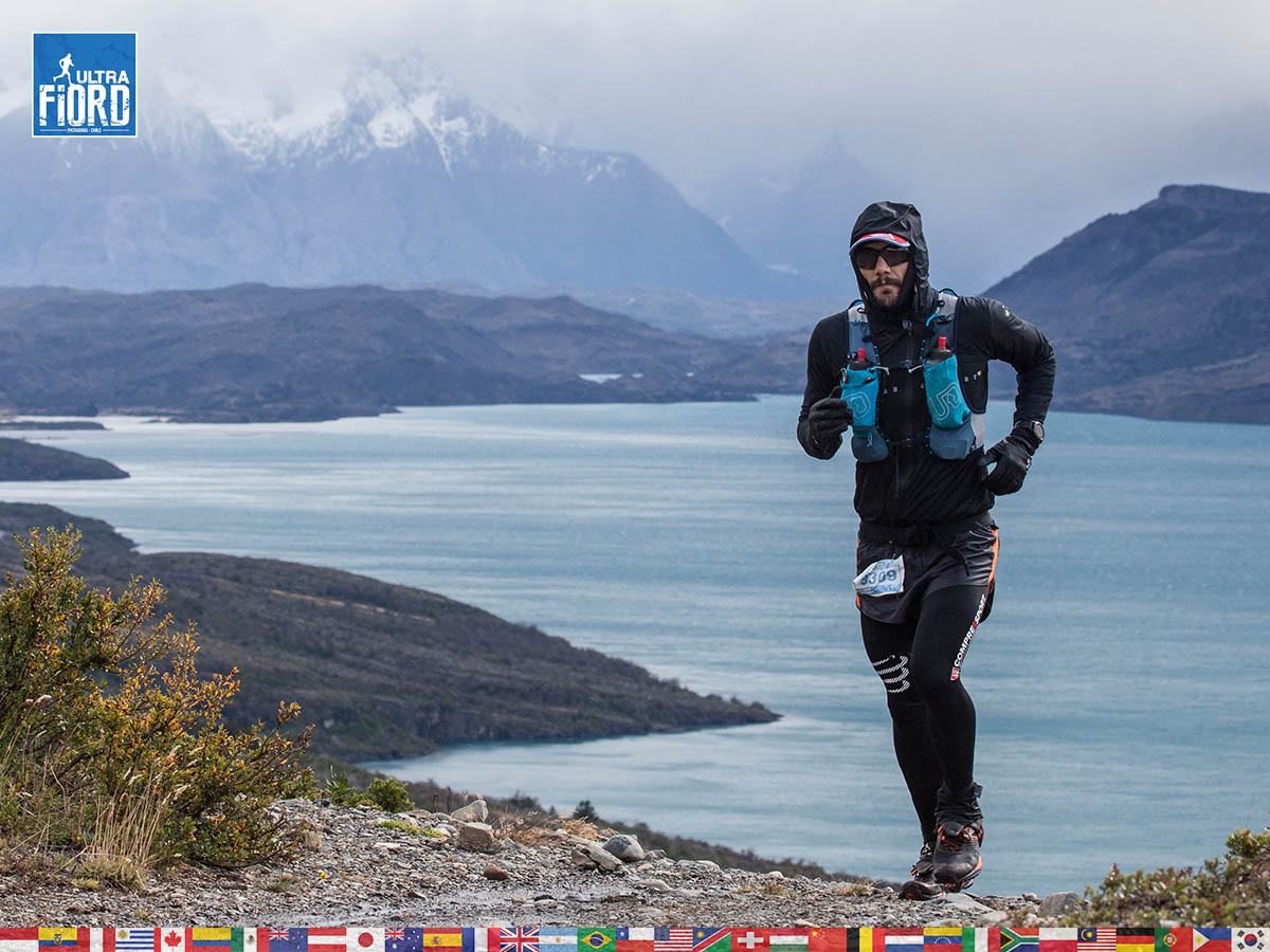 utf1904clsi0194FB Ultra Trail Running in Patagonia, Chile; Ultra Fiord Fifth Edition 2019; Torres del Paine; Última Esperanza; Puerto Natales; Patagonia Running Ultra Trail; Claudio Silva