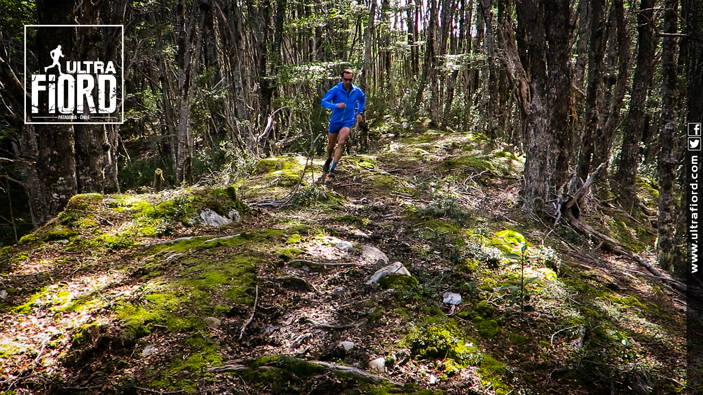 Ultra Trail Running in Ultima Esperanza, Patagonia, Chile; Ultra Fiord Route Forest Running