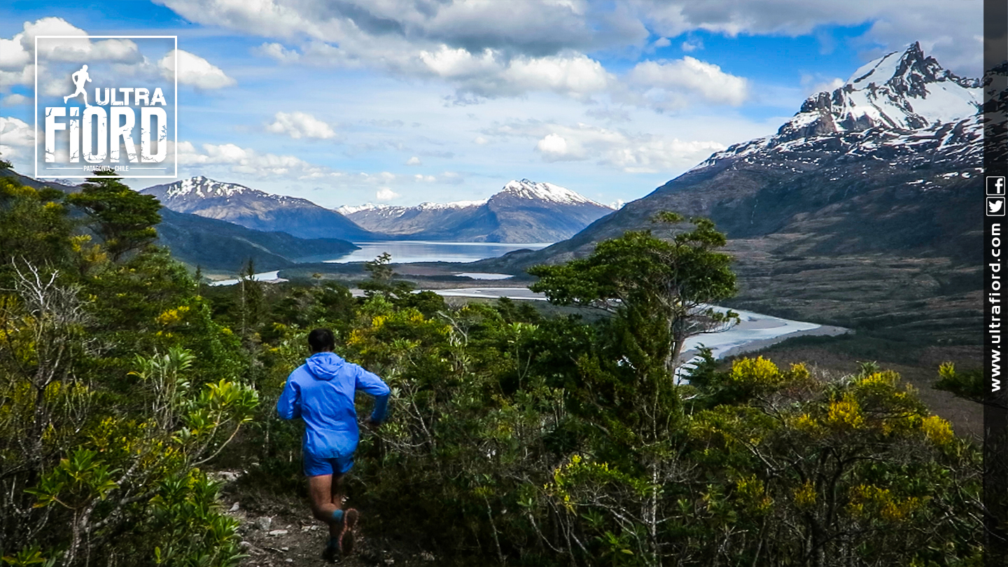 Ultra Trail Running in Ultima Esperanza, Patagonia, Chile; Ultra Fiord Route Fjord Mountain Pass Trail Running
