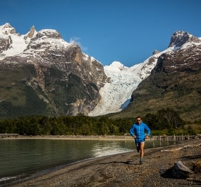 Ultra Trail Running in Ultima Esperanza, Patagonia, Chile; Ultra Fiord Route Glacier