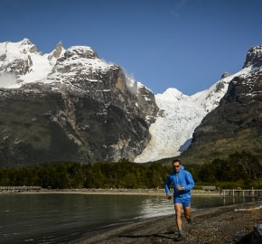 Ultra Trail Running in Ultima Esperanza, Patagonia, Chile; Ultra Fiord Route Glacier Running