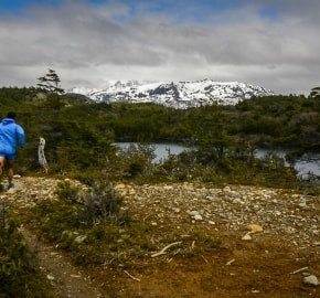 Ultra Trail Running in Ultima Esperanza, Patagonia, Chile; Ultra Fiord Route Trail Running through the Fjords