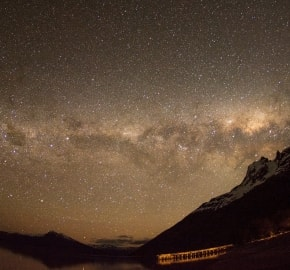 Ultra Trail Running in Ultima Esperanza, Patagonia, Chile; Ultra Fiord Route Night Skyline Stars