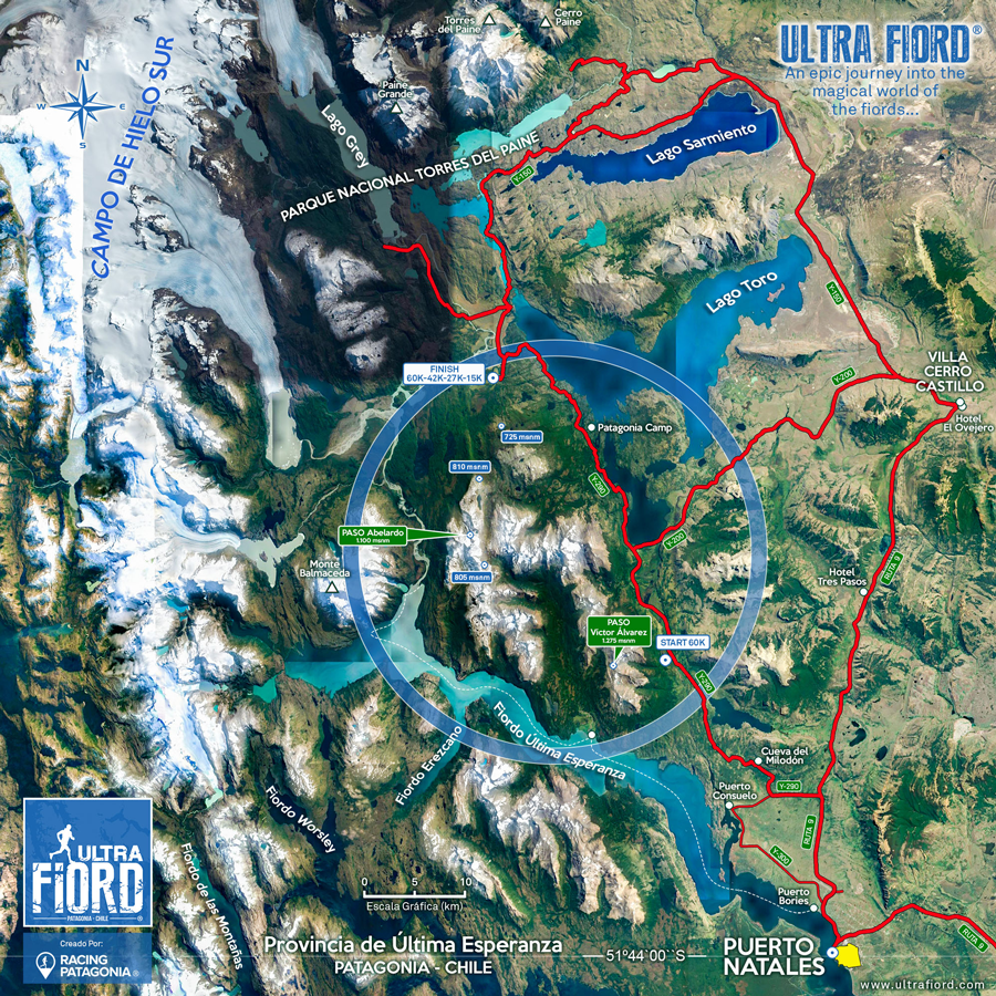 Ultra Fiord 2022 Map