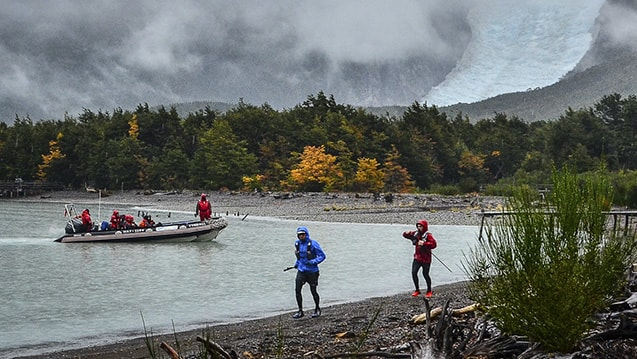 Ultra Fiord First Edition 2015; Ultra Trail Running; Patagonia, Chile; Jeff Browning; Emmanuel Acuna; Glacier Balmaceda
